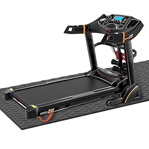 MKHB Alfombra de Gimnasia de Alta Densidad, Resistente al Desgaste Alfombrilla de Gimnasia, para Equipo de Fitness para Pisos y alfombras Negro