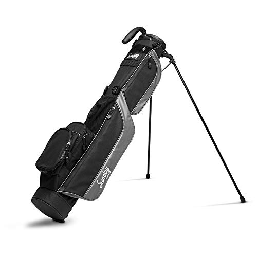 Sunday Golf Loma Bag – Holds 5 to 7 Clubs – Ultra Lightweight Sunday Carry Bag with Strap Stand – Golf Stand Bag for The Driving Range, Par 3 and Pitch n Putt Courses, 31 Inches Tall