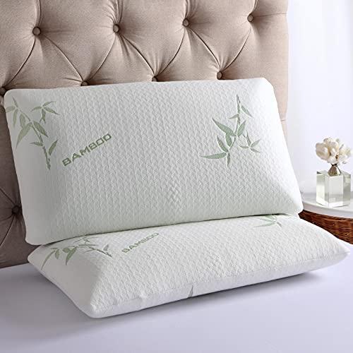 Shredded Memory Foam Pillow, Removable Bamboo Pillowcase, Adjustable...