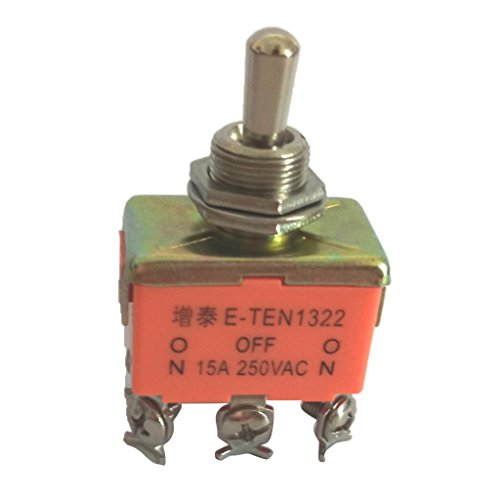 Harilla Interruptor de Palanca, CA 250 V 15 a, Balancín de 6 Pines DPDT ON/OFF/ON 3 Posiciones