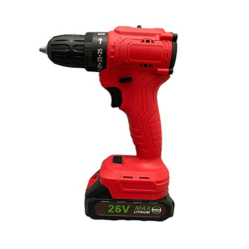HOUSEHOLD Brushless lithium electric drill multi-function electric screwdriver, rechargeable electric screwdriver, handheld electric drill impact drill stepless speed button, home/office