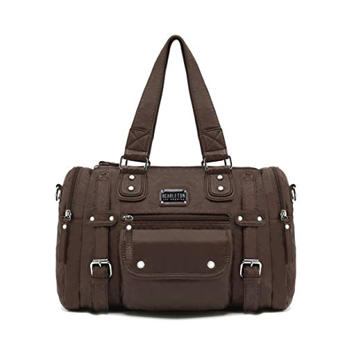 Scarleton Satchel Handbag for Women, Shoulder Bag, Purses for women, Multi pocket handbag, Ultra Soft Washed Vegan Leather Crossbody Bag, H1485