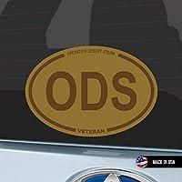 Tan Operation Desert Storm Veteran ODS Oval 防水 車用 スーツケース用 Army USMC Navy USAF