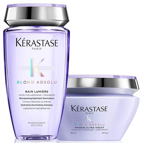 Kérastase Blond Absolu Lumiere 250 ml & Blond Absolu Masque Ultraviolett 200 ml Duo