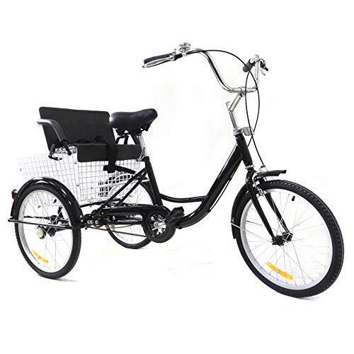Tricycle Comfort, bicicletta da 20 pollici, per adulti, senza ingranaggi, in alluminio, con cestino, per adulti e adulti, tricycle Comfort, per sport all aria aperta, City Urban