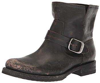 Frye Women s Veronica Bootie Ankle Boot Black Full Grain Brush Off Leather 8