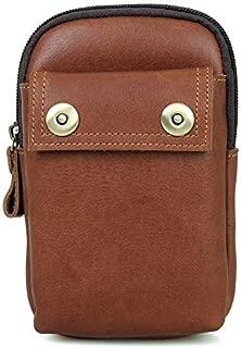 FYXKGLa Men's Casual Waist Pack Retro Casual Suede Leather Men's Pockets Retro Leather Pockets (Color : Coffee)