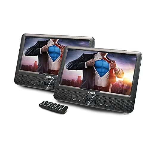 Lettore DVD Dual da 9 pollici portatile per auto DVD92D | Doppio schermo | Lettore file multimediali | CD, DVD,...