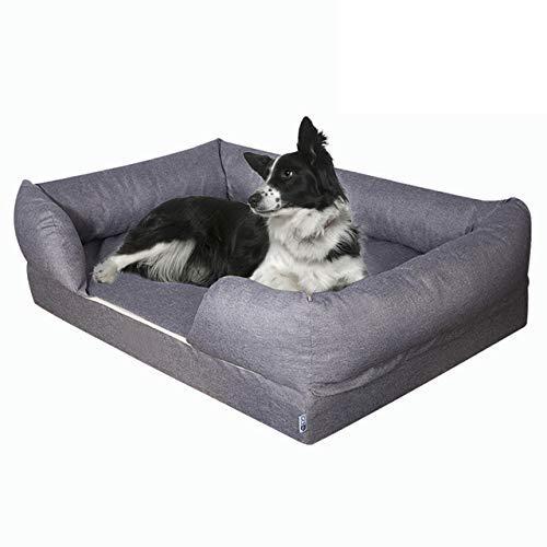 Qazxsw Sofá Cama para Mascotas Algodón con Memoria Nido para Mascotas Alfombrilla para Perros y Gatos Perrera Mediana y Grande Cama para Perros