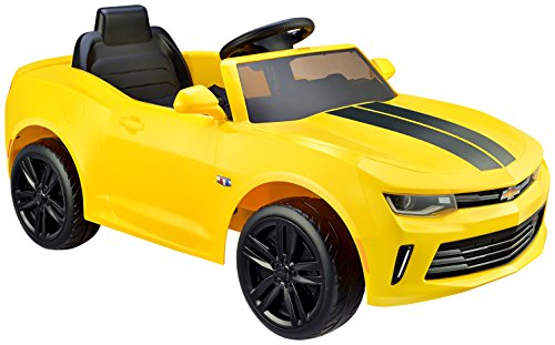 """Kid Motorz 902 6V Racing Camaro Rs One Seater Ride On Toy, 45.27"""" x 21.49"""", Yellow"""