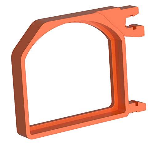 QubinoBox 1 voor de opname van 1 stuks Qubino Relais. Verticale montage op de DIN-rail. Bespaart waardevolle ruimte in de verdeler. 5,7 x 4,1 x 0,7 oranje