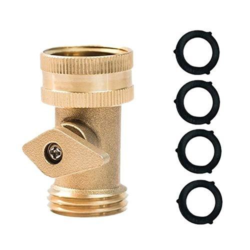 MINGMIN-DZ Dauerhaft Wasserschlauch Turn Off Ventil 3/4 Zoll Extreme Duty-Gartenschlauch auf Off Ventil Gartenschlauch Wasser Absperrventils