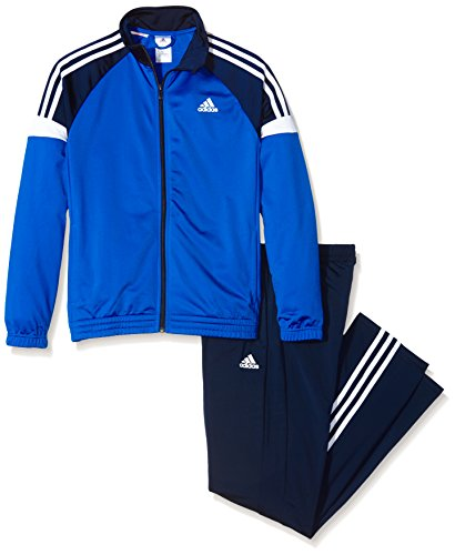 adidas Jungen Trainingsanzug Tiberio, Schwarz/Blau/Weiß, 176