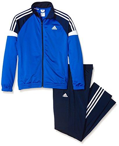 adidas Jungen Trainingsanzug Tiberio, Schwarz/Blau/Weiß, 164