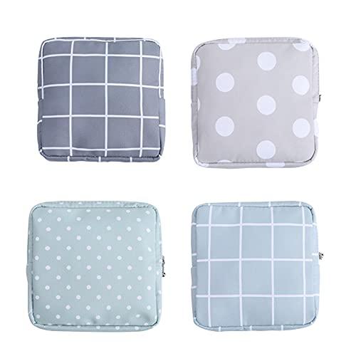 Kytpyi bolsa menstrual, 4 piezas bolsa para servilletas sanitarias bolsa tampones y compresas monedero mini mujer mini bolsa de almacenamiento para chicas adolescentes mujeres señoras