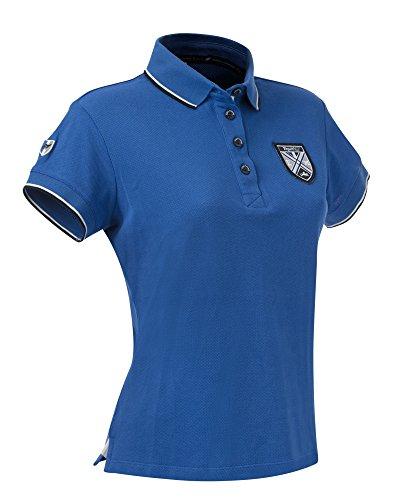 Equi-Theme/Equit'M 962703612 Fine Pique Short Sleeve, Polo Unisex-Adulto, Blu Reale, Taglia Unica
