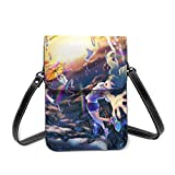 XCNGG Monedero pequeño para teléfono celular Anime Weathering With You Small Crossbody Coin Purse Phone Purse Mini Cell Phone Pouch Leather Smartphone Bags Purse,With Removable Shoulder Strap,Shoulder