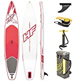 Hydro-Force Inflatable SUP, Fastblast Tech Stand Up Paddle Board with Carry Bag and Pump, 12ft 6