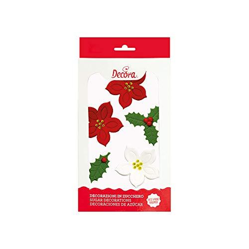 Decora Decorazioni di Zucchero Stella Natale e Aprifoglio - 1 Pezzo