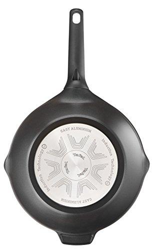 Tefal Aroma - Wok de aluminio fundido, 28 cm, recubrimiento titanio antiadherente y thermosport, aptas para todo tipo de cocinas,base gruesa adecuada para inducción, picos vertedores y asas de apoyo
