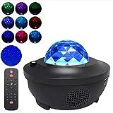 Weesey Veilleuse LED Music Star Projector pour Enfants Starry Sky Lights Projecteur Haut-Parleur Bluetooth avec télécommande et minuterie