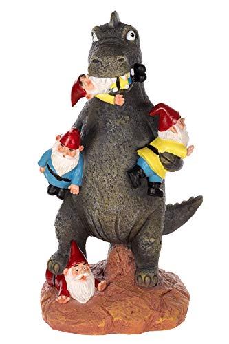 Birendy Figur, Dinosaurier, Zwerg, Gartenzwerg Gartenwichtel Deko Zwerg Wichtel (NF36728-30 cm)