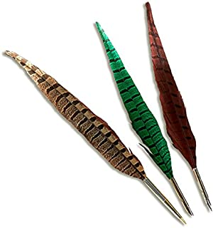 Striped Pheasant Feather Quill (Natural Stripe)