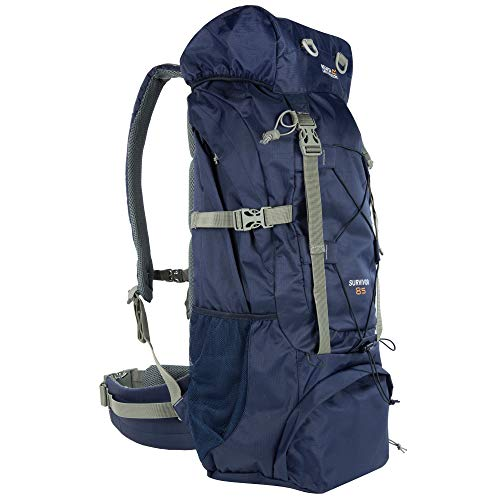 Regatta Survivor III Hardwearing Padded Camping and Hiking Sac à Dos Homme, Bleu Marine, 35 l