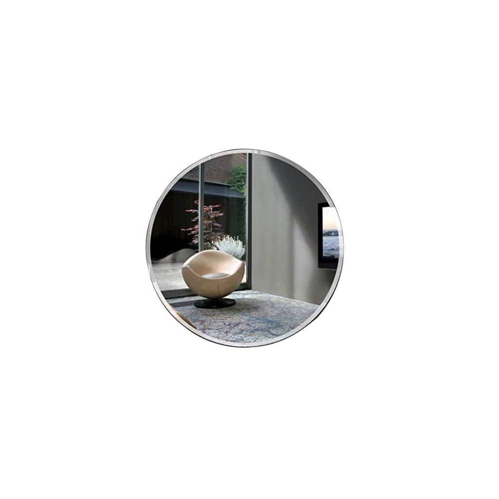 FFYN Miroir de Salle de Bain Rond biseauté 30/50/55/60/70/80 cm Maquillage sans Cadre de qualité supérieure Rasage…