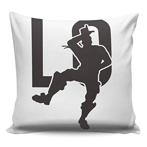 YOKOU Square Pillowcase Burlap Throw Pillow Covers Dancing People Man Black Silhouettes Cushion Case Pillow Protectors for Sofa Bedroom Office Car, 18x18in