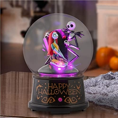 Nightmare Before Christmas Jack & Sally Lighted Musical Globe