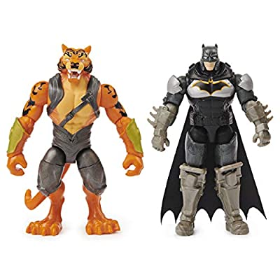 BATMAN 4-inch Robin and King Shark Action Figures with 6 Mystery Accessories from BATMAN