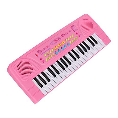 HENG Klaviertastatur Kinder, 37 Tasten Elektronische Tastatur Multifunktionelle Klavier Piano Musikinstrument Spielzeug mit Mikrofon für Kinder
