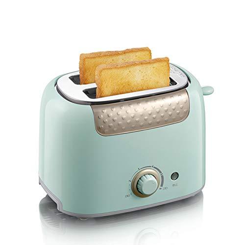 FXX Küchengeräte, Haushalt Toaster mit 2 Scheiben Slot Ankoch Multifunktionale Frühstück Brotbackautomat Toast-Maschine,Grün