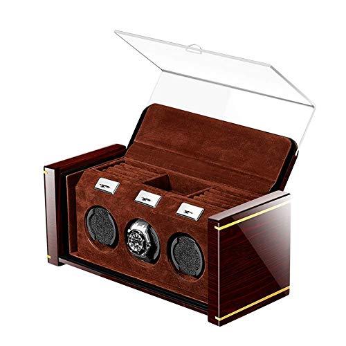 CCAN Uhrenbox Shaker Automatische mechanische Uhrenbox, Uhrenaufbewahrung Winder Plattenspieler Swayer, erweiterte Steuerung und leiser Motor, Klavierlackoberfläche, weiches FL