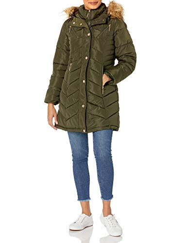 Rocawear Damen LADIES 100% POLY WOVEN 600MM PU COATED WR Oberbekleidung, olivgrün, Large