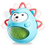 Tumbler & Teether Toys, Great Gifts for Boys & Girls 6-12 Months, make this hedgehog friend sway, spin, sway and roll, soothing, jingle sounds awaken the joy of baby music. Roly-poly toys are safe and durable and are not afraid of falling. The size a...