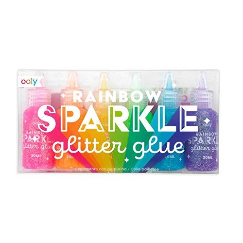 OOLY, Rainbow Sparkle Glitter Glue - Set of 6
