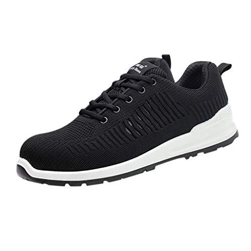 HDUFGJ Laufschuhe Turnschuhe Straßenlaufschuhe Sneaker Fliegendes Weben Atmungsaktiv Anti-Piercing
