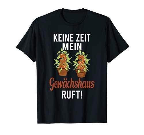 Gewächshaus Tomate Garten Gärtner Hobbygärtner Gartenarbeit T-Shirt