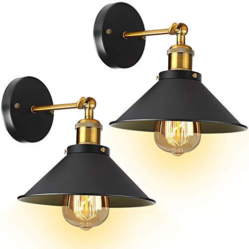 Chenjia Lámpara de pared retro industrial lámpara de pared - [certificación UL] 2 bombillas 3000K lámpara de pared lámpara de pared lámpara de pared lámpara de pared brazo de iluminación brazo de ilum
