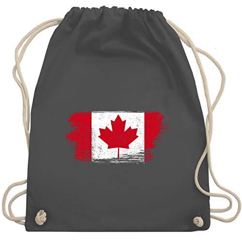 Städte & Länder Kind - Kanada Vintage - Unisize - Dunkelgrau - kanada geschenke - WM110 - Turnbeutel und Stoffbeutel aus Baumwolle