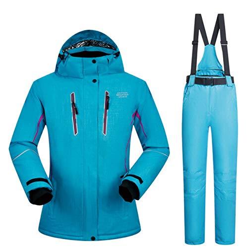 Skipak JSGJHXFWomen Skipak Winter Ski-jack en broeken Hoogwaardige winddicht, waterdicht, ademend, thermisch skiën snowboardpak merken
