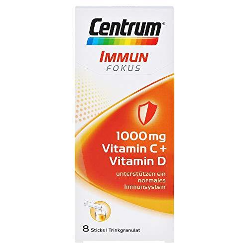 Centrum Immun Fokus – Gezielte Unterstützung der Abwehrkräfte – 1000mg Vitamin C, Vitamin D und Mineralstoffe – 1 x 8 Sticks