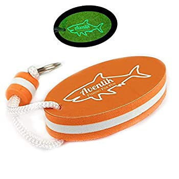 Riverruns Aventik Floating Key Ring Lightweight Practical Water Buoyant Keychain Boat Key Chains Accessory for Water Sports Prevent Key Ring from Being Lost  Orange