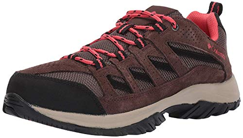 Columbia womens Crestwood Hiking Shoe, Mud/Red Coral, 9.5 US