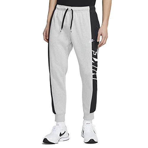 Nike M NSW CE FT JGGR SNL ++ Pantaloni Sportivi, Grey Heather/Black/(White), M Uomo