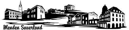 Wandtattoo Skyline Menden Sauerland XXL Text Stadt Wand Aufkleber Wandsticker Wandaufkleber Deko sticker Wohnzimmer Autoaufkleber 1M188, Skyline Größe:Länge 120cm