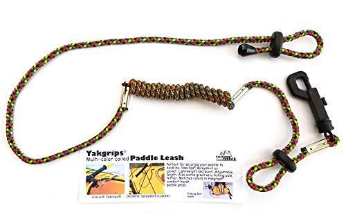 Yakgrips — Correia de remo com espiral multicolorida para homens e mulheres, acessório de caiaque, Multi colored