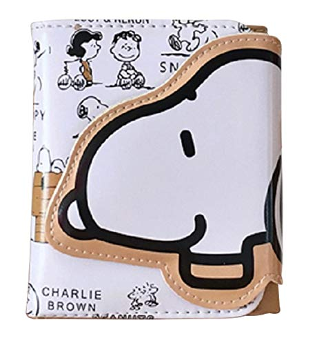 GlobalEdge Peanuts Charlie Brown Snoopy Compact Three Fold Wallet